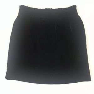 J Crew Black Viscose Mini Skirt w/ Pockets Size 2